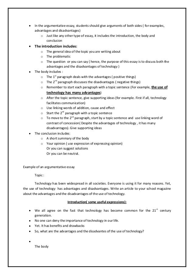 sample argumentative essay high school