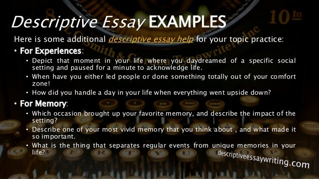 Descriptive Essay Writing Example Topics Outline