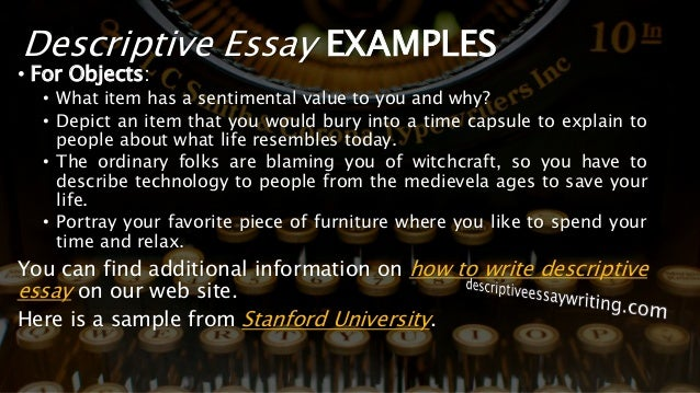 descriptive essay example about an object
