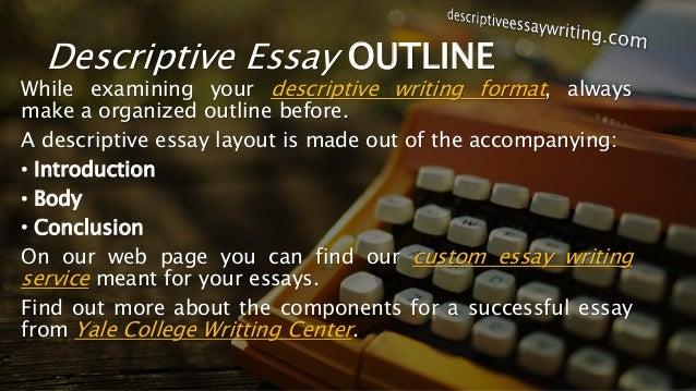 examples of discriptive essay