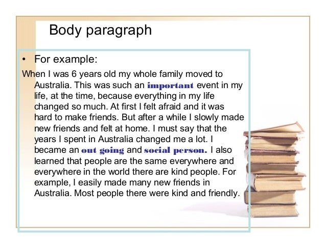 Example Paragraph Using Order Of Importance Essay - image 8