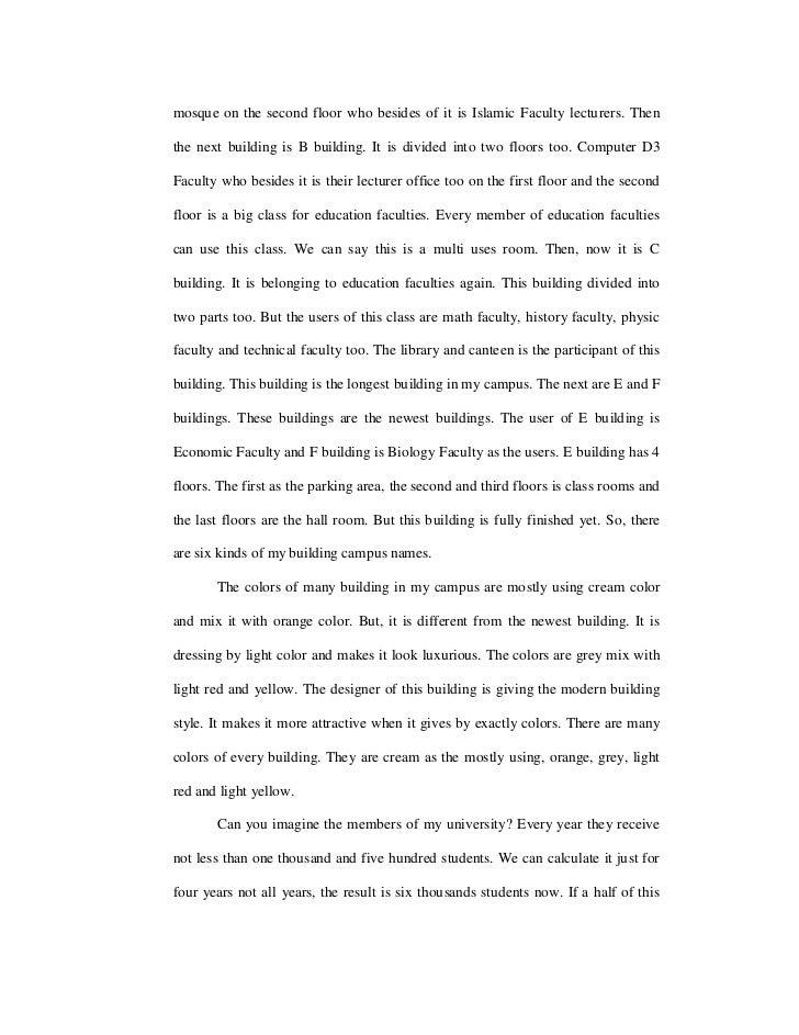 Make a Example to Descriptive essay