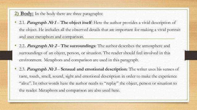 A descriptive essay about a person