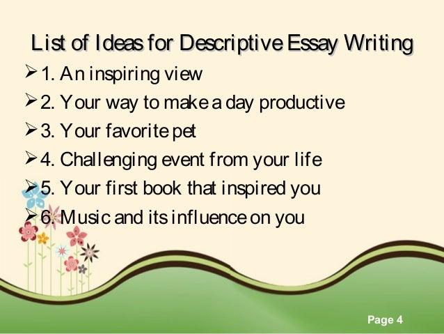 An inspiring view essay