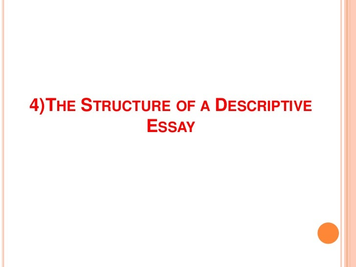 descriptive essay writing 4 the structure of a descriptive essay