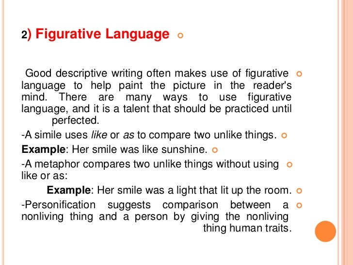 features of desciptive essay