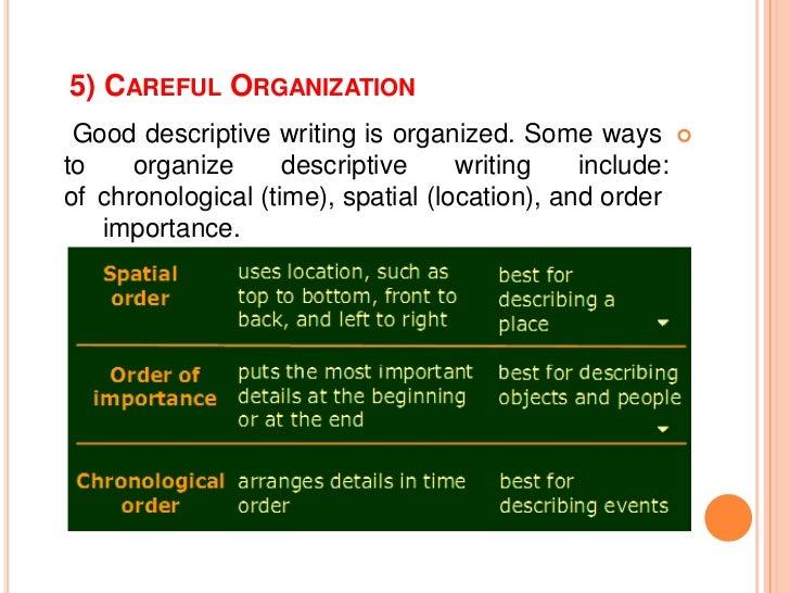 Spatial order example essay