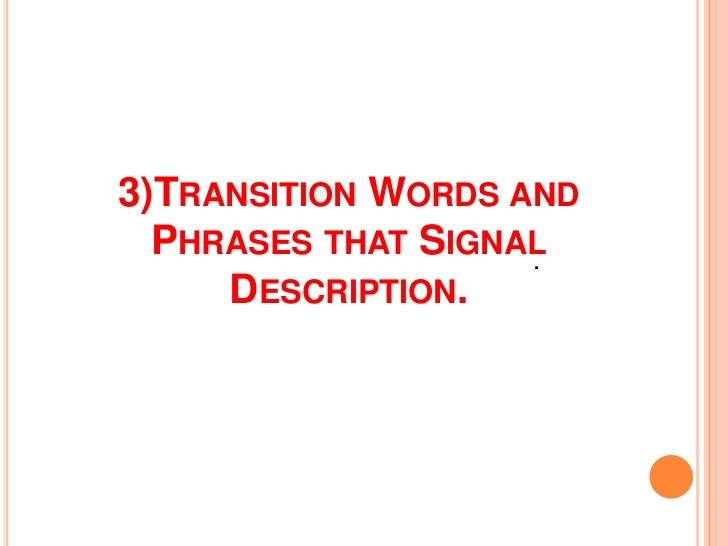 descriptive essay writing 9 3 transition