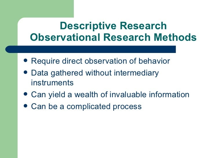descriptive research approach