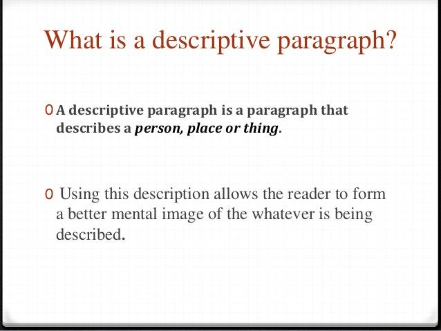 STRUCTURE Paragraph (each bullet point equals 1-3 sentences) 0 Topic Sentence 0 Supporting Detail 0 Supporting Detail 0 Su...