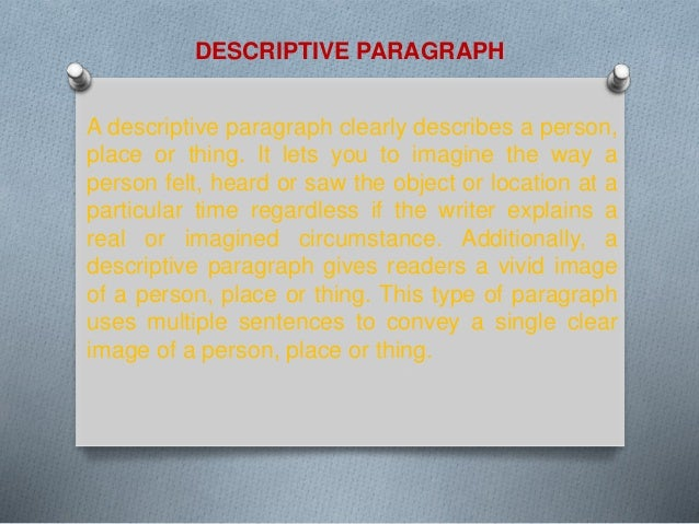 how to write a descriptive paragraph about a person