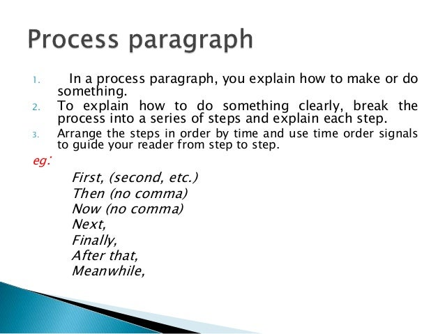 Or: The first step … (no comma) The next step … (no comma) The final step … (no comma) After five minutes, After you take
