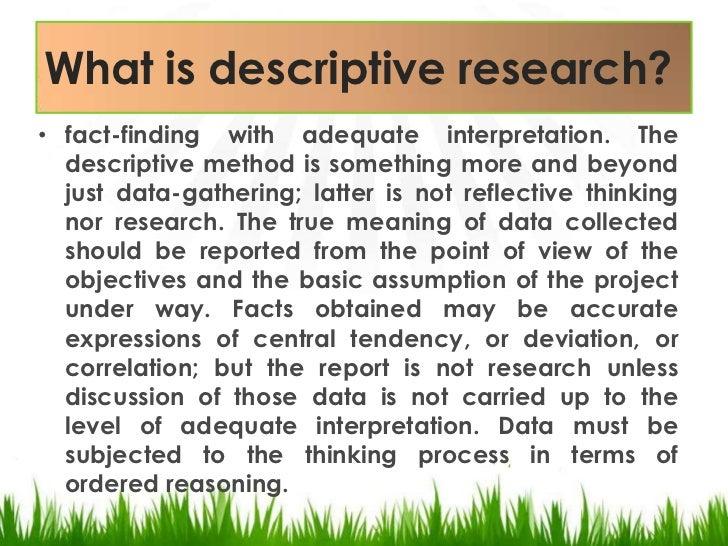 example of descriptive abstract