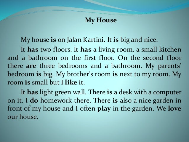 Essay of home