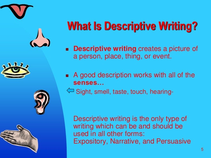 Narrative Vs. Descriptive Writing