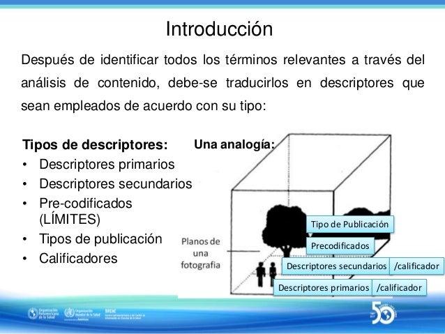 Sesión 2 de 10 - Uso de descriptores primarios y secundarios en indización de documentos según Metodologia LILACS Descriptores primarios secundarios_27_04_2017_final Slide 3