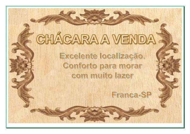 CHÁCARA A VENDA EM FRANCA-SP Condomínio de chácaras residenciais Excelente localização, 20 minutos do centro da cidade, fá...