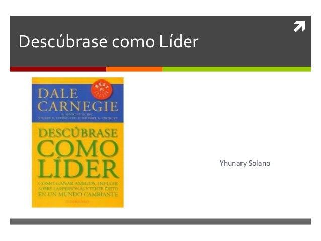  Descúbrase como Líder Yhunary Solano