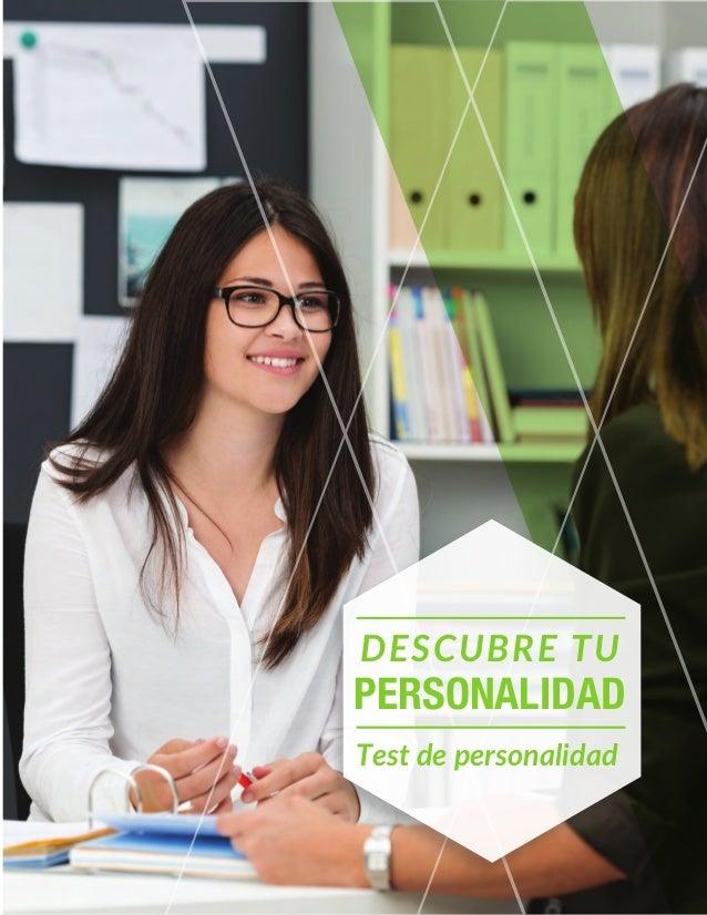 DESCUBRE TU PERSONALIDAD Test de personalidad