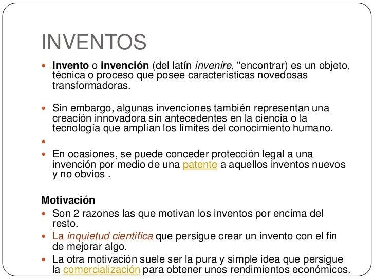 2 ejemplos de invenciones