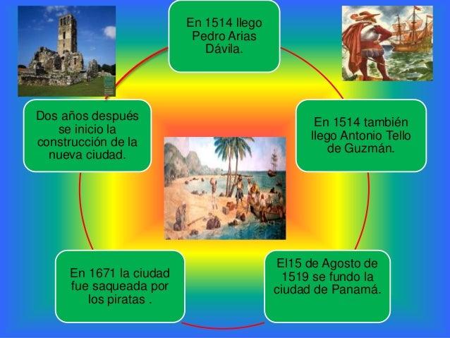 En 1514 llegoPedro AriasDávila.En 1514 tambiénllego Antonio Tellode Guzmán.El15 de Agosto de1519 se fundo laciudad de Pana...