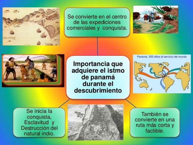 Importancia queadquiere el istmode panamádurante eldescubrimientoSe convierte en el centrode las expedicionescomerciales y...