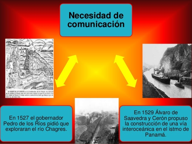 Necesidad decomunicaciónEn 1529 Álvaro deSaavedra y Cerón propusola construcción de una víainteroceánica en el istmo dePan...