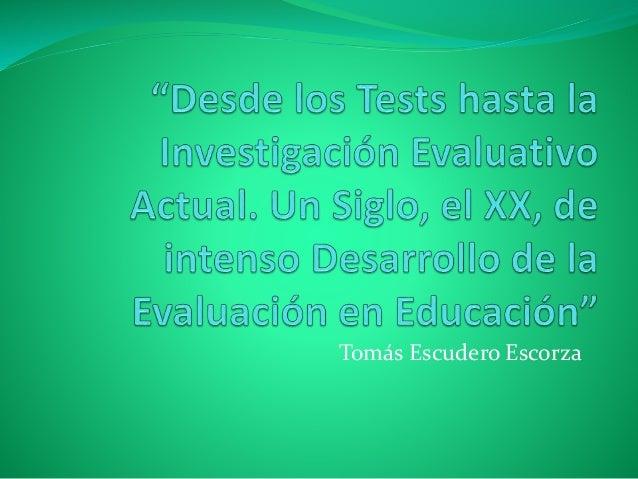 Tomás Escudero Escorza