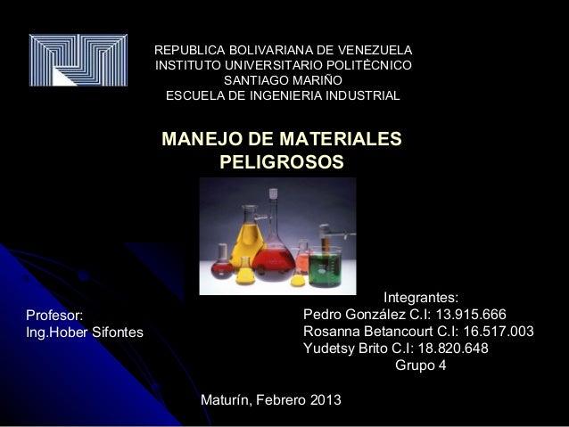 REPUBLICA BOLIVARIANA DE VENEZUELA                     INSTITUTO UNIVERSITARIO POLITÈCNICO                               S...