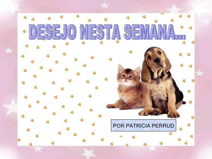 DESEJO NESTA SEMANA... POR PATRICIA PERRUD