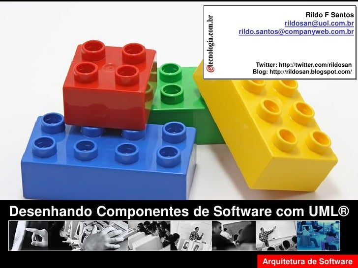 Desenhado Componente de Software com UML                                                                          Rildo F ...