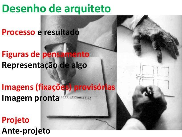 Desenho de arquitetoProcesso e resultadoFiguras de pensamentoRepresentação de algoImagens (fixações) provisóriasImagem pro...