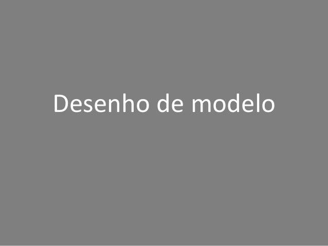 Desenho de modelo