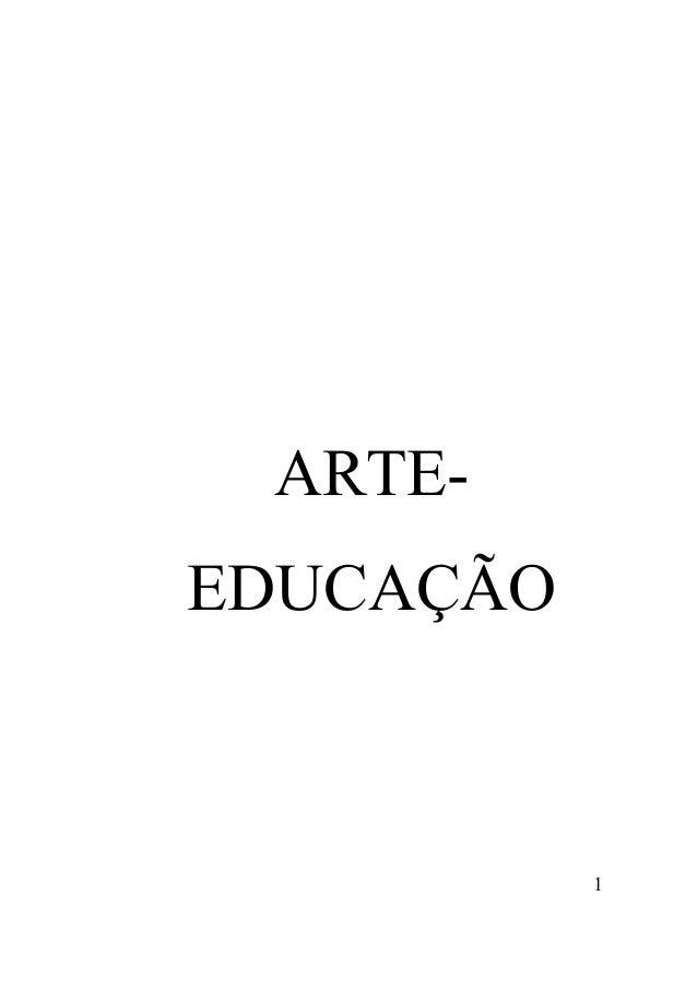 1 ARTE- EDUCAÇÃO