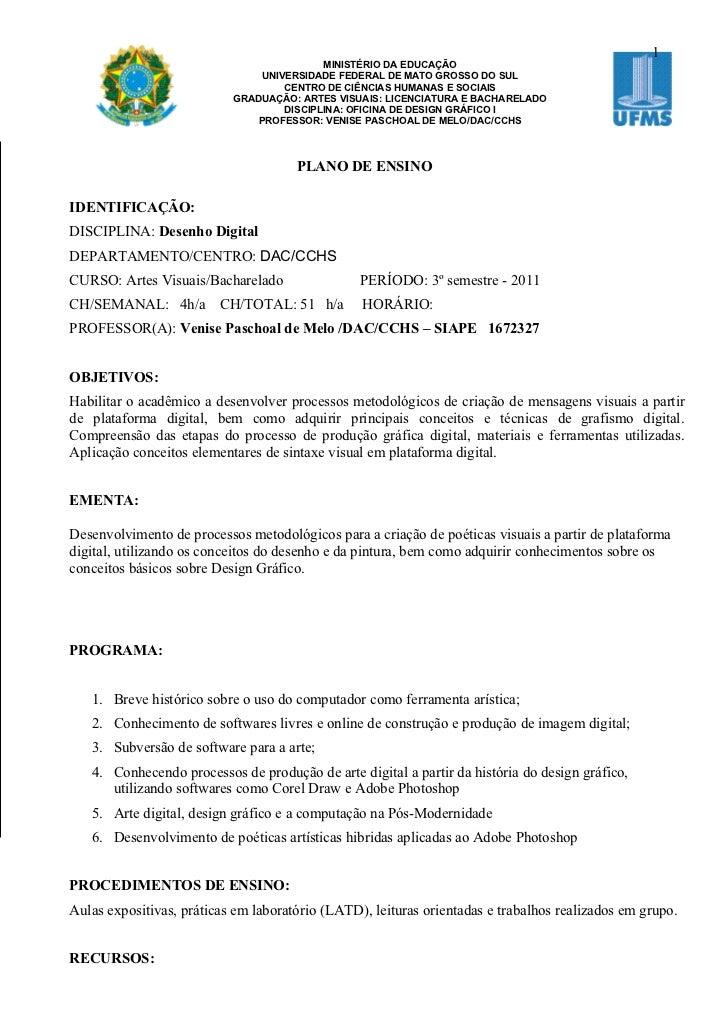1                                           MINISTÉRIO DA EDUCAÇÃO                                UNIVERSIDADE FEDERAL DE ...