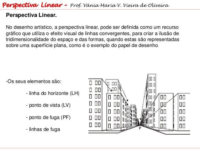 Perspectiva Linear. No desenho artístico, a perspectiva linear, pode ser definida como um recurso gráfico que utiliza o ef...