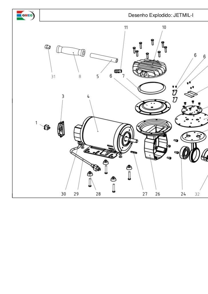 Motomil Desenho Explodido Jetmil