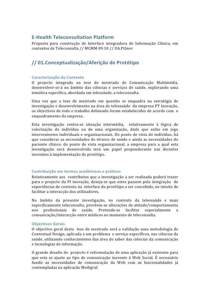E‐HealthTeleconsultationPlatform Proposta para construção de Interface integradora de Informação Clínica, em ...