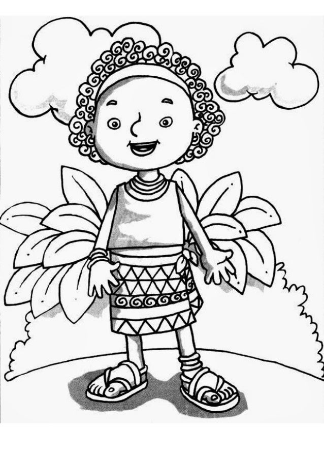Desenhos para colorir (Afro)