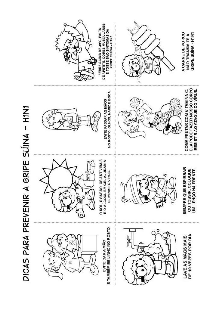 Desenhos Gripe A