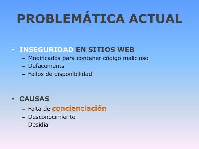 Desenmascara.me concienciación en seguridad para sitios web. Security awareness websites Slide 2