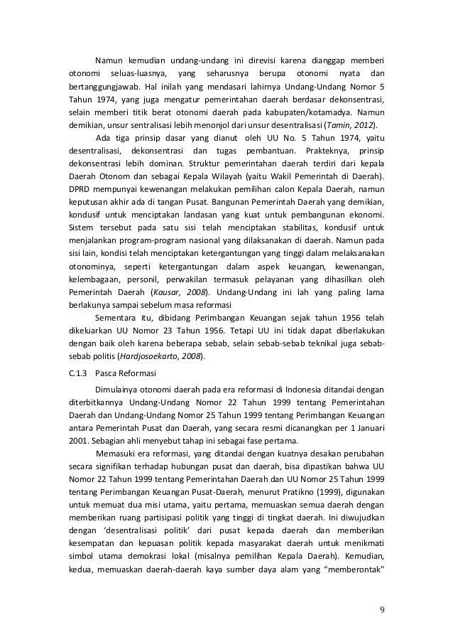 Pemerintah Pusat Indonesia Memberi Otonomi Kepada