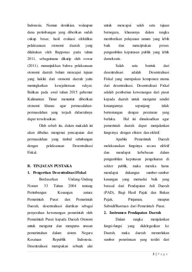 Grand design desentralisasi fiskal indonesia #1