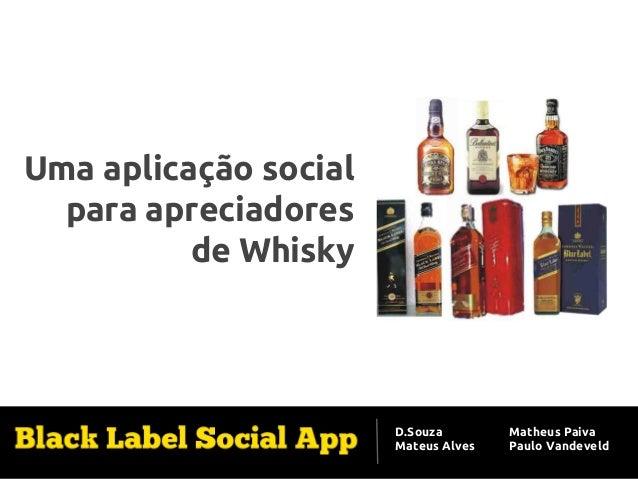 Aplicação de Software Social Uma aplicação social para apreciadores de Whisky  D.Souza Mateus Alves  Matheus Paiva Paulo V...