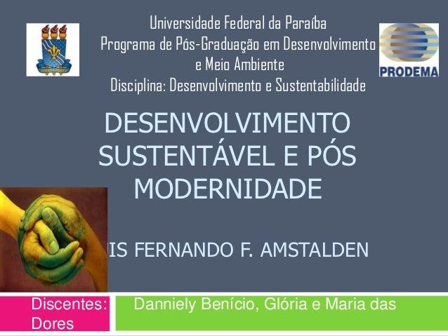 Universidade Federal da Paraíba         Programa de Pós-Graduação em Desenvolvimento                          e Meio Ambie...