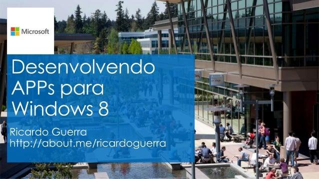 """Quem sou eu? • Meu nome é Ricardo Guerra Freitas, mas pode me chamar de """"Guerra"""" • Ex-Curioso de .NET • MVP Visual Basic –..."""