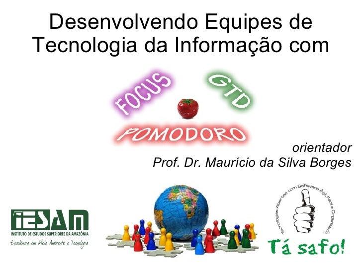 Desenvolvendo Equipes de Tecnologia da Informação com orientador Prof. Dr. Maurício da Silva Borges