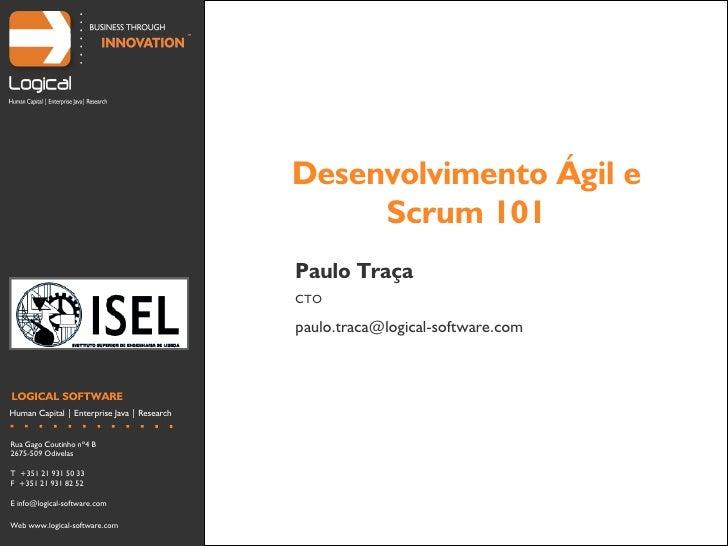 Desenvolvimento Ágil e                                                   Scrum 101                                        ...