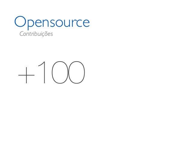 Opensource +100 Contribuições