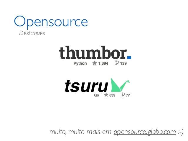 Opensource muito, muito mais em opensource.globo.com :-) tsuru Destaques